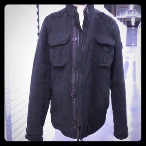 Abercrombie Mens Wool Jacket Size Large